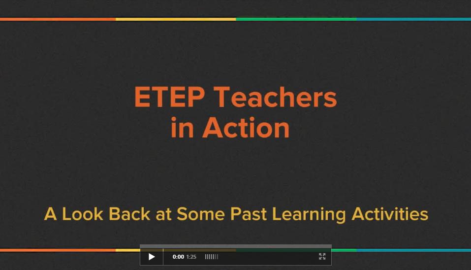 ETEP Teachers in Action - Adobe Spark Video Screenshot