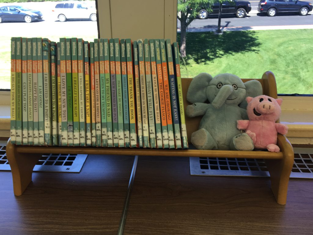 Elephant and Piggie collection at Crestview Elementary Media Center