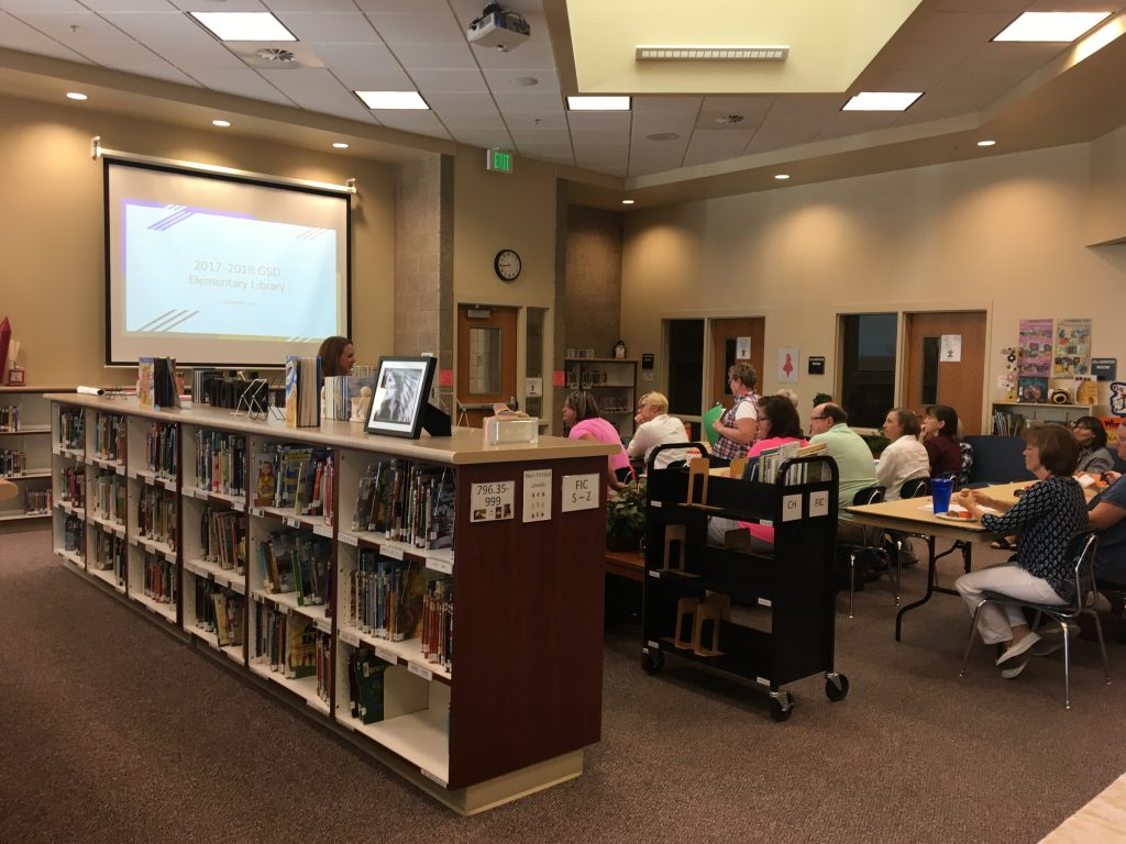 Flexible training and gathering area at Diamond Ridge Elementary Media Center