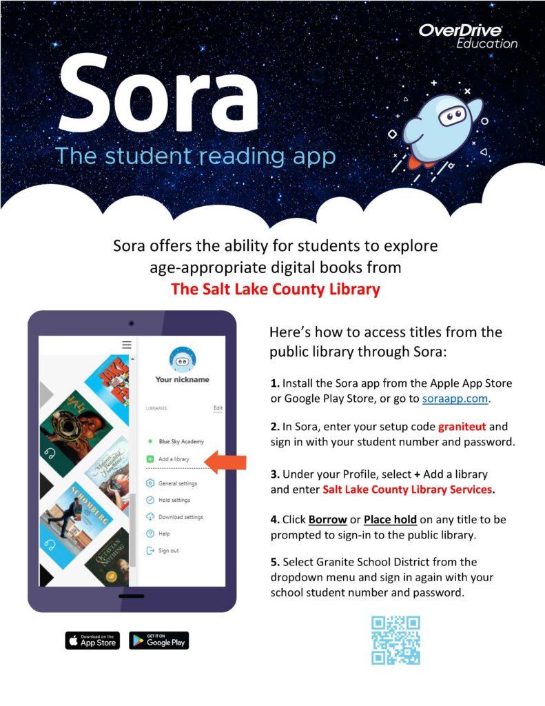 Sora Granite-SLCO Public Library Connect Flyer