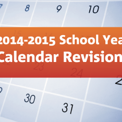 Changes to the 2014-2015 school year calendar