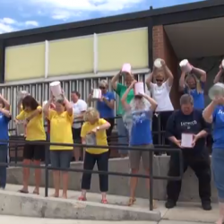 Eastwood Elementary braves Ice Bucket Challenge in support of teacher's sister