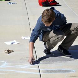 Photo Gallery: Wasatch Jr. High students create 3D chalk murals on sidewalk