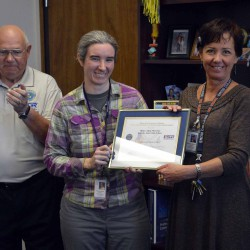 Kennedy Jr. High principal receives Patriot Award for supporting teacher