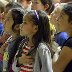 Copper Hills El. students pause to reflect before Memorial Day
