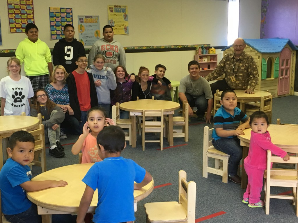 After school project leads to new furniture for day care