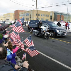 Photos: Students and staff show support for fallen officer Doug Barney