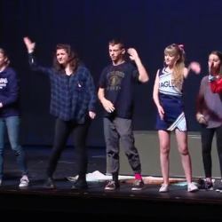 Skyline students use American Sign Language to perform anti-violence play