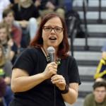 Photo of Skyline High teacher addressing students
