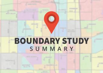 Boundary map with text overlay 'Boundary Study Summary'