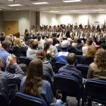 Bennion Elementary students sing song at board meeting