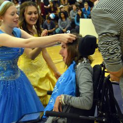 Photos: Hunter students raise money, dress as princesses for girl with cerebral palsy
