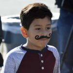 West Kearns student shows off painted mustache