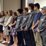 Team state champions are recognized during board meeting