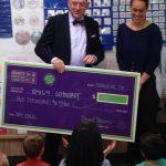 Teacher receives Excel Award in classroom