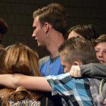 Bennion Jr High students do a group hug