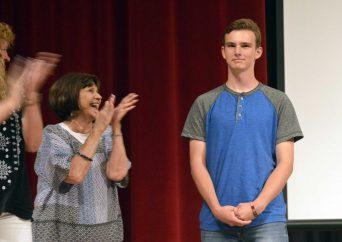 Bennion Jr High teachers applaud Absolutely Incredible Kid recipient
