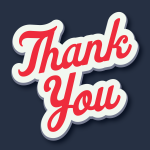 Vector artwork of the words 'Thank you'