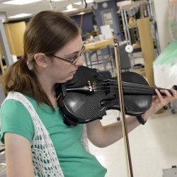 Watch: Two GTI students create carbon fiber violin from scratch