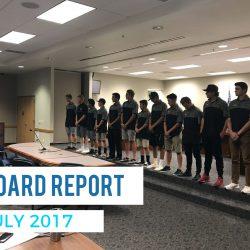 Board Report – July 2017