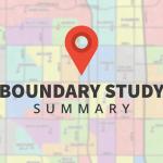 Boundary map with text 'Boundary Study Summary'